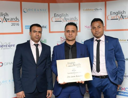 Spice Lounge, shortlisted finalist in the Team Service of the Year category at the English Curry Awards 2017
