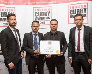 English Curry Awards Winners 2018