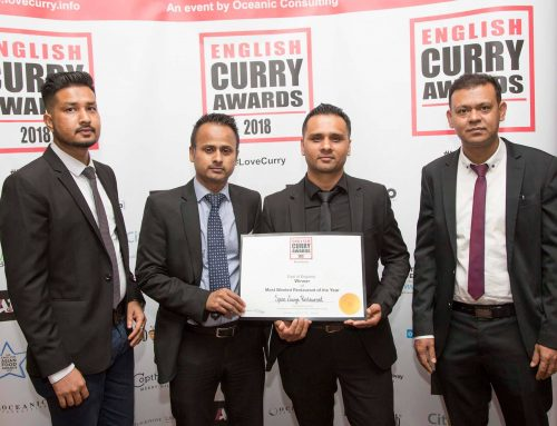 Spice Lounge Win Regional title at the English Curry Awards 2018